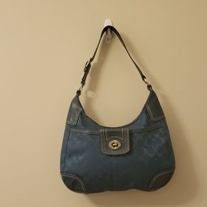Coach handbag Teal Blue